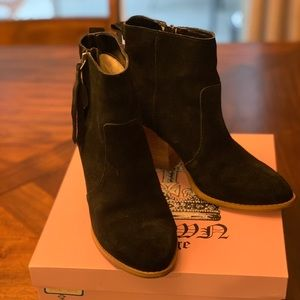 Crown Vintage Black Suede Booties